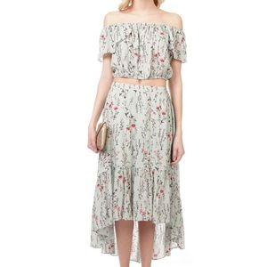 Taylor & Sage 2-Piece Off-Shoulder High-Low Dress
